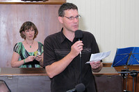 Philip Alexander spoke before the baptism of his son Kaleb.
