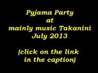 Pyjama Party at mainly music Takanini (July 2013)